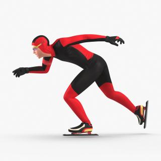 3D model Speed Skater Generic Runs