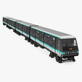 Paris Subway Train MP 05 3D model