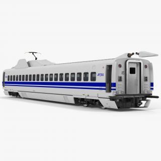 Bullet Train JR700 Passenger Car Japan Railways Rigged 3D model