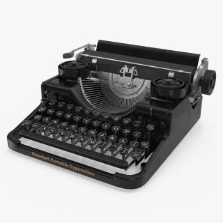 3D Antique Typewriter model