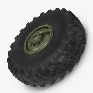 3D model Military Truck Wheel