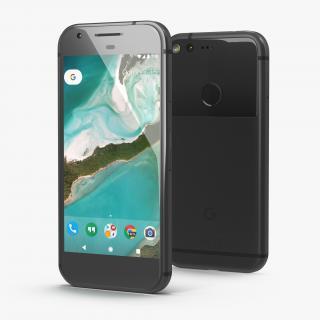 3D model Google Pixel Phone Quite Black