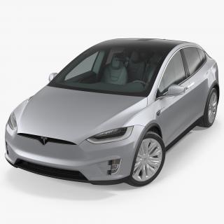 3D Tesla Model X P90D 2017 model