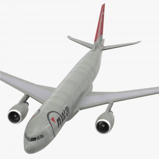 3D Airbus A330 P2F Northwest Airlines Rigged