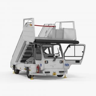 3D Passenger Boarding Stairs Car TLD ABS 580 Rigged model