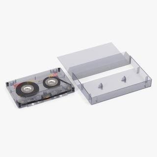 Blank Audio Cassette Tape with Box 3D model
