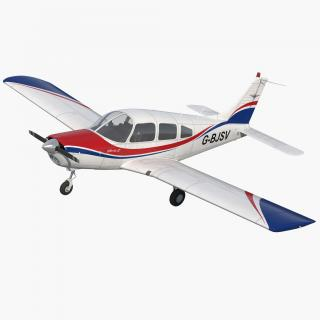 3D Piper PA28-161 Cherokee model