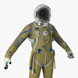 Space Suit Strizh with SK-1 Helmet 3D model