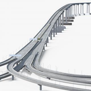 Coronado Bay Bridge 3D model