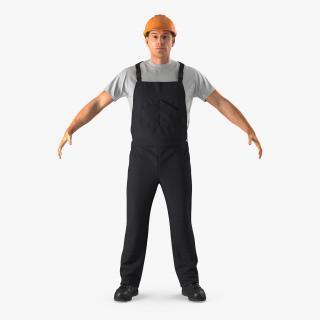 3D model Worker Black Uniform