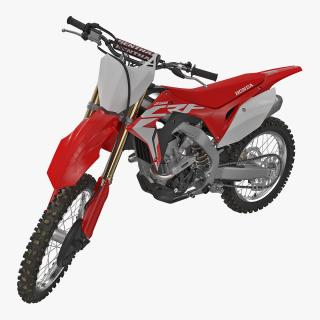 3D Competition Motorcycle Honda CRF250R 2018 Rigged model