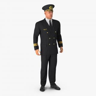 Adult Airline Pilot 3D model