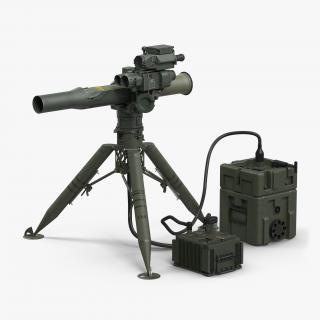 BGM-71 TOW Missile System Tripod 3D
