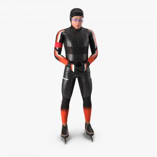 Speed Skater Generic 2 Rigged 3D model