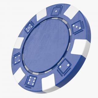 3D Blank Poker Chip