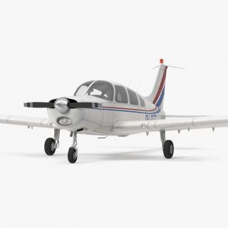 Civil Utility Aircraft Piper PA 28-161 Cherokee 3D