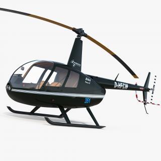 3D Light Helicopter Robinson R44 Raven II model