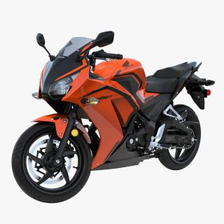 3D Honda CBR300R 2016 Lightweight Motorcycle Rigged model