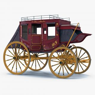 3D model Concord Stagecoach Rigged