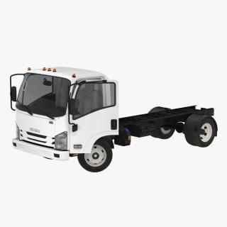 3D Commercial Truck Isuzu NPR 2018 Rigged model