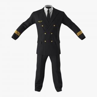 3D Airline Pilot Suit model