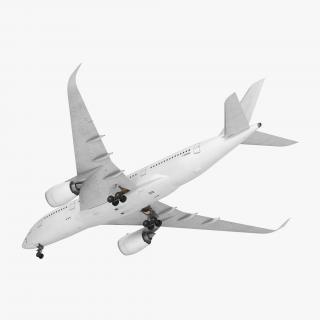 Airbus A350-800 Generic Rigged 3D Model 3D model