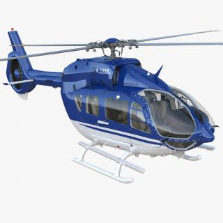 3D model Civil Helicopter Airbus H145 Rigged