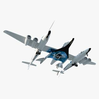 3D Virgin Galactic SpaceShipTwo model