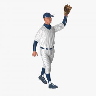 Baseball Player Rigged Generic 6 3D