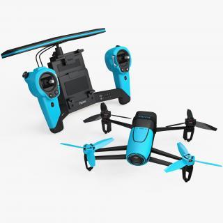 3D Parrot Bebop Quadcopter Drone Set model