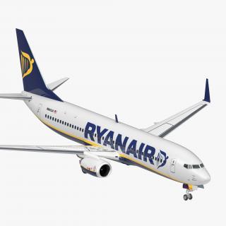 Boeing 737-800 Ryanair 3D