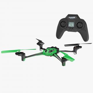 3D model Quad Rotor Helicopter LaTrax Alias Set Rigged