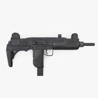 Submachine gun UZI SMG Rigged 3D model