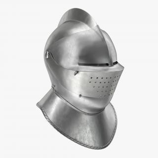 Armet Closed Helmet 3D model