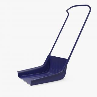 3D Sleigh Shovel Blue model
