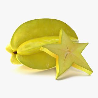 Star Fruit Set 3D model