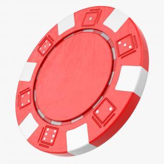3D Striped Dice Poker Chip model