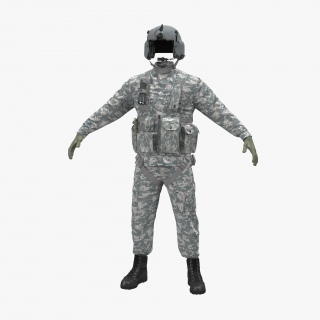 US Helicopter Pilot Uniform Camo 3D