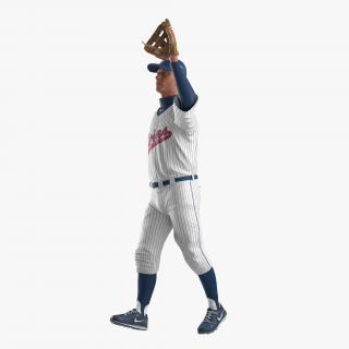 3D Baseball Player Rigged Twins model