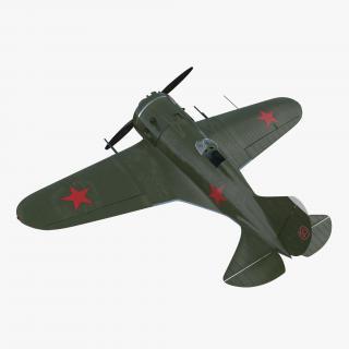 Soviet WWII Fighter Aircraft Polikarpov I-16 3D model