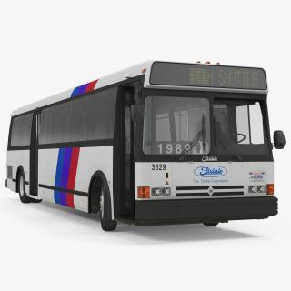 3D Flxible Metro D Bus Rigged