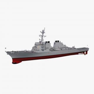 3D Arleigh Burke Destroyer Mahan DDG-72
