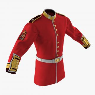 3D model Irish Guard Sergeant Tunic and Belt