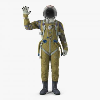 3D USSR Space Suit Strizh with SK-1 Helmet Rigged