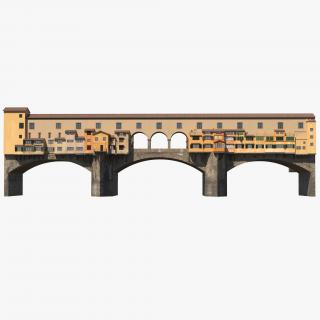 Ponte Vecchio Bridge Florence 3D model