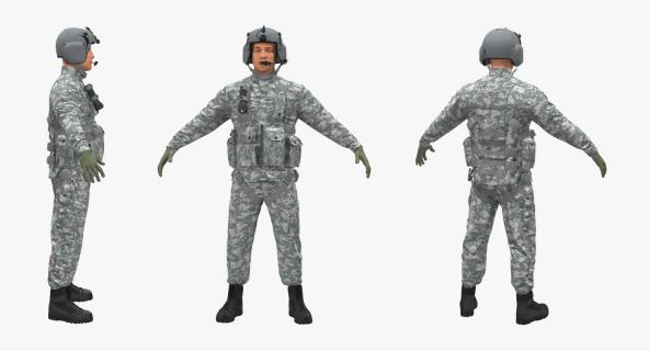 US Helicopter Pilot Camo 3D model