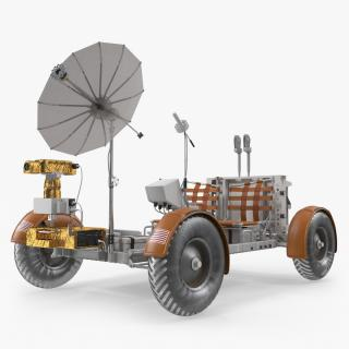 3D model Lunar Roving Vehicle from Apollo 15
