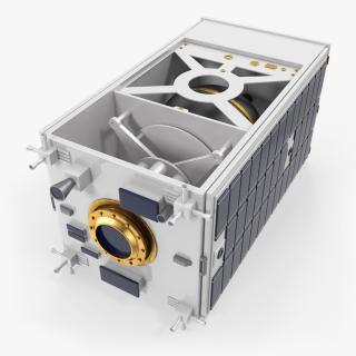 3D Satellite with Collapsed Panels