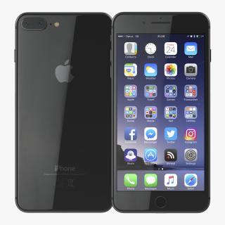 iPhone 8 Plus Black 3D model