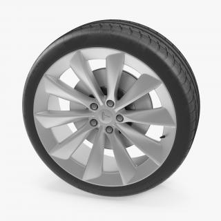 3D Tesla Silver Turbine Wheel